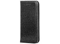 Husa Piele Forcell SHINING Book pentru Samsung Galaxy A21s, Neagra, Bulk