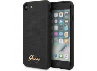 Husa Plastic - Piele Guess Lizard pentru Apple iPhone 8 / Apple iPhone SE (2020), Neagra, Blister GUHCI8PCUMLLIBK
