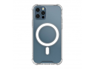 Husa TPU OEM MagSafe Magnetic Antisoc pentru Apple iPhone 12 Pro Max, Transparenta, Bulk