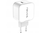 Incarcator Retea USB Nevox Wall Charger, 1 X USB Tip-C, 20W, Power Delivery, Alb