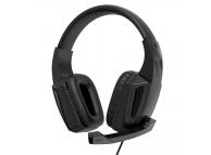 Casti Gaming XO Design GE-01, 3.5 mm, cu microfon, Negre, Blister