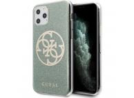 Husa Plastic - TPU Guess 4G Glitter Circle pentru Apple iPhone 11 Pro, Kaki, Blister GUHCN58PCUGLKA