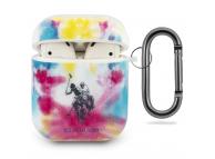 Husa Protectie Casti U.S. Polo Tie Dye pentru Apple AirPods Gen 1 / Apple AirPods Gen 2, Multicolor, Blister USACA2PCUSML