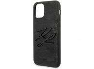 Husa TPU Karl Lagerfeld Lizard pentru Apple iPhone 11 Pro Max, Neagra, Blister KLHCN65TJKBK