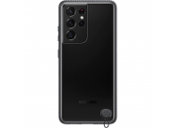 Husa Plastic Samsung Galaxy S21 Ultra 5G, Clear Protective Cover, Neagra EF-GG998CBEGWW