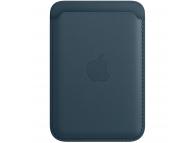 Portofel Apple Leather Wallet pentru iPhone 12 / 12 mini / 12 Pro / 12 Pro Max, Cu MagSafe, Piele, Albastru, Blister MHLQ3ZM/A