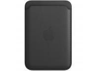 Portofel Apple Leather Wallet pentru iPhone 12 / 12 mini / 12 Pro / 12 Pro Max, Cu MagSafe, Piele, Negru, Blister MHLR3ZM/A