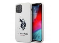 Husa TPU U.S. Polo Big Horse pentru Apple iPhone 12 / Apple iPhone 12 Pro, Alba, Blister USHCP12MSLHRWH