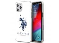 Husa TPU U.S. Polo Shiny Big Logo pentru Apple iPhone 12 Pro / Apple iPhone 12, Alba, Blister USHCP12MTPUHRWH