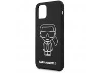 Husa TPU Karl Lagerfeld Iconik pentru Apple iPhone 11 Pro Max, Alba, Blister KLHCN65SILFLWBK