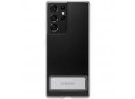Husa TPU Samsung Galaxy S21 Ultra 5G, Standing Cover, Transparenta EF-JG998CTEGWW