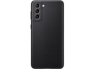 Husa Piele Samsung Galaxy S21 5G, Leather Cover, Neagra, Blister EF-VG991LBEGWW