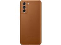 Husa Piele Samsung Galaxy S21+ 5G, Leather Cover, Maro, Blister EF-VG996LAEGWW