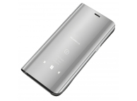 Husa Plastic OEM Clear View pentru Samsung Galaxy A21s, Argintie
