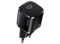 Incarcator Retea USB Usams T36 Mini US-CC124, 1 X USB Tip-C, 20W PD 3.0, Negru, Blister CC124TC01