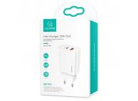 Incarcator Retea USB Usams T35 US-CC121, 1 X USB - 1 X USB Tip-C, 20W, Alb, Blister CC121TC01