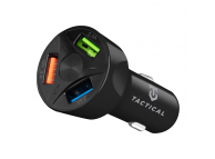 Incarcator Auto USB Tactical LZ-337, 3 x USB, QC 3.0, 7A, Negru, Blister
