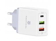 Incarcator Retea USB Tactical AR-QC-PD, 1 X USB Tip-C - 2 X USB, QC3.0, 5.4A, Alb, Blister