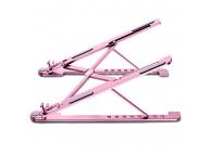 Stand Laptop OEM, Stand L, dimensiuni ecran 14 -17.3 inch, Roz