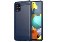 Husa TPU OEM Carbon pentru Samsung Galaxy A31, Bleumarin