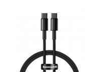 Cablu Date si Incarcare USB Type-C la USB Type-C Baseus, 1 m, 100 W, 5 A, Negru, Blister CATWJ-01