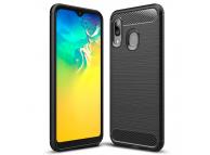 Husa TPU Forcell Carbon pentru Samsung Galaxy A20e, Neagra