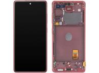 Display - Touchscreen Samsung Galaxy S20 FE 5G, Cu Rama, Rosu GH82-24214E