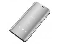 Husa Plastic OEM Clear View pentru Samsung Galaxy A42 5G, Argintie, Blister
