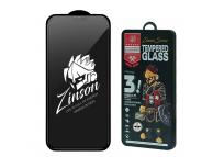 Folie Protectie Ecran Proda Zinson pentru Apple iPhone 12 mini, Sticla securizata, Full Face, Privacy, 9H, Neagra