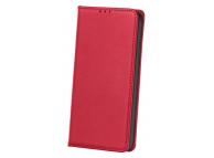 Husa Piele OEM Smart Pro pentru Motorola Moto G9 Play, Rosie