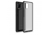 Husa Plastic - TPU Tech-Protect HYBRIDSHELL pentru Samsung Galaxy A42 5G, Frost, Neagra, Blister