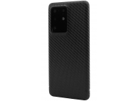 Husa Telefon Nevox Fibra Carbon pentru Samsung Galaxy S20 Ultra G988 / Samsung Galaxy S20 Ultra 5G G988, Carbon Series, Neagra, Resigilat, Blister