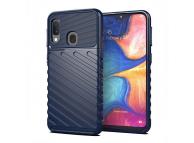 Husa TPU OEM Thunder Tough pentru Samsung Galaxy A20e, Bleumarin