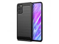 Husa TPU OEM Carbon pentru Samsung Galaxy S20 G980, Neagra