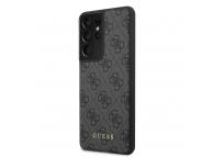 Husa Plastic - TPU Guess 4G pentru Samsung Galaxy S21 Ultra 5G, Gri, Blister GUHCS21LG4GFGR