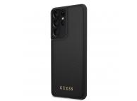 Husa TPU Guess Iridescent pentru Samsung Galaxy S21 Ultra 5G, Neagra, Blister GUHCS21LIGLBK