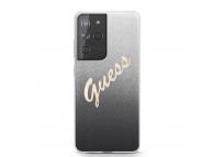 Husa Plastic - TPU Guess Vintage pentru Samsung Galaxy S21 Ultra 5G, Neagra, Blister GUHCS21LPCUGLSBK