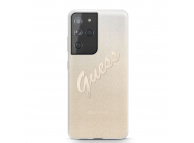 Husa Plastic - TPU Guess Vintage pentru Samsung Galaxy S21 Ultra 5G, Aurie, Blister GUHCS21LPCUGLSGO