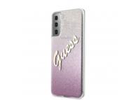 Husa Plastic - TPU Guess Vintage pentru Samsung Galaxy S21+ 5G, Roz, Blister GUHCS21MPCUGLSPI