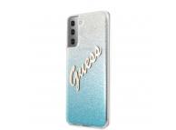 Husa Plastic - TPU Guess Vintage pentru Samsung Galaxy S21+ 5G, Albastra, Blister GUHCS21MPCUGLSBL