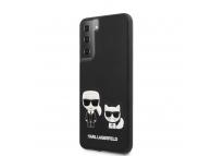 Husa Plastic - Piele Karl Lagerfeld Karl &Choupette pentru Samsung Galaxy S21+ 5G, Neagra, Blister KLHCS21MPCUSKCBK