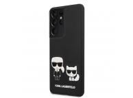 Husa Plastic - Piele Karl Lagerfeld Karl &Choupette pentru Samsung Galaxy S21 Ultra 5G, Neagra, Blister KLHCS21LPCUSKCBK
