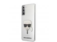 Husa Plastic - TPU Karl Lagerfeld Head pentru Samsung Galaxy S21+ 5G, Transparenta, Blister KLHCS21MKTR
