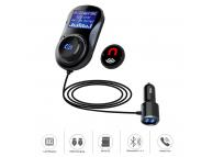 Modulator FM Bluetooth Tellur FMT-B4, microSD, USB QuickCharge 3.0, Negru TLL622031