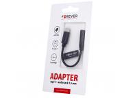 Adaptor Audio USB Type-C la 3.5 mm Forever, 0.12 m, Negru, Blister