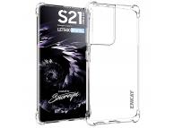 Husa TPU Enkay Antisoc pentru Samsung Galaxy S21 Ultra 5G, Transparenta