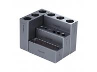 Suport Surubelnite QIANLI iCube, pentru organizare instrumente service, Argintiu, Blister