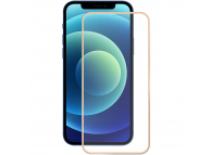 Folie Protectie Ecran Enkay pentru Apple iPhone 12 Pro Max, Sticla securizata, Full Face, Full Glue, 0.2mm, 9H, Aurie