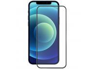 Folie Protectie Ecran Enkay pentru Apple iPhone 12 / Apple iPhone 12 Pro, Sticla securizata, Full Face, Full Glue, 0.2mm, 9H, Neagra