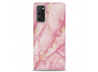 Husa TPU OEM Gilt Marble pentru Samsung Galaxy S20 FE G780, Roz, Bulk